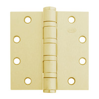 5BB1HW-5x5-633-TW4 IVES 5 Knuckle Ball Bearing Full Mortise Hinge with Electric Thru-Wire in Satin Brass Plated