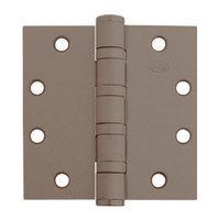 5BB1HW-5x5-643-TW4 IVES 5 Knuckle Ball Bearing Full Mortise Hinge with Electric Thru-Wire in Satin Bronze-Blackened
