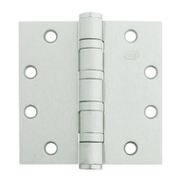 5BB1HW-5x5-646-TW4 IVES 5 Knuckle Ball Bearing Full Mortise Hinge with Electric Thru-Wire in Satin Nickel Plated