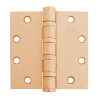 5BB1HW-5x5-612-TW4 IVES 5 Knuckle Ball Bearing Full Mortise Hinge with Electric Thru-Wire in Satin Bronze