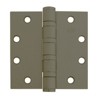 5BB1HW-5x5-613-TW4 IVES 5 Knuckle Ball Bearing Full Mortise Hinge with Electric Thru-Wire in Dark Bronze