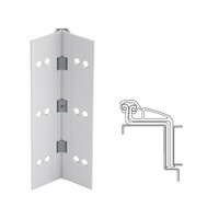 041XY-US28-120 IVES Full Mortise Continuous Geared Hinges in Satin Aluminum