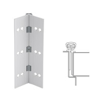 026XY-US28-83-HT IVES Full Mortise Continuous Geared Hinges with Hospital Tip in Satin Aluminum
