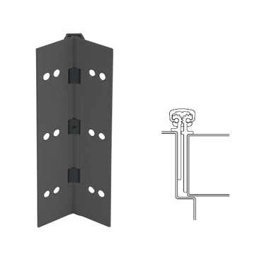 026XY-315AN-85-HT IVES Full Mortise Continuous Geared Hinges with Hospital Tip in Anodized Black