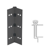 027XY-315AN-85-HT IVES Full Mortise Continuous Geared Hinges with Hospital Tip in Anodized Black