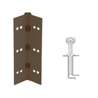 040XY-313AN-95-HT IVES Full Mortise Continuous Geared Hinges with Hospital Tip in Dark Bronze Anodized