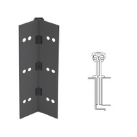 040XY-315AN-120-HT IVES Full Mortise Continuous Geared Hinges with Hospital Tip in Anodized Black