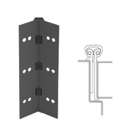 114XY-315AN-83-HT IVES Full Mortise Continuous Geared Hinges with Hospital Tip in Anodized Black
