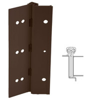 224XY-313AN-85-HT IVES Adjustable Full Surface Continuous Geared Hinges with Hospital Tip in Dark Bronze Anodized