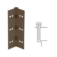 027XY-313AN-85-EPT IVES Full Mortise Continuous Geared Hinges with Electrical Power Transfer Prep in Dark Bronze Anodized