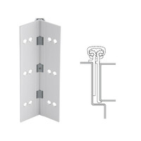 114XY-US28-120-EPT IVES Full Mortise Continuous Geared Hinges with Electrical Power Transfer Prep in Satin Aluminum