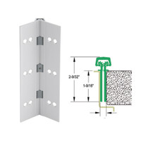 112HD-US28-85-EPT IVES Full Mortise Continuous Geared Hinges with Electrical Power Transfer Prep in Satin Aluminum