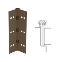 114XY-313AN-95-SECHM IVES Full Mortise Continuous Geared Hinges with Security Screws - Hex Pin Drive in Dark Bronze Anodized