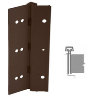 224HD-313AN-95-SECHM IVES Full Mortise Continuous Geared Hinges with Security Screws - Hex Pin Drive in Dark Bronze Anodized