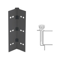 026XY-315AN-120-SECWDHM IVES Full Mortise Continuous Geared Hinges with Security Screws - Hex Pin Drive in Anodized Black