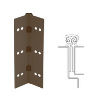 112XY-313AN-95-SECWDHM IVES Full Mortise Continuous Geared Hinges with Security Screws - Hex Pin Drive in Dark Bronze Anodized