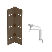 041XY-313AN-120-SECWDHM IVES Full Mortise Continuous Geared Hinges with Security Screws - Hex Pin Drive in Dark Bronze Anodized