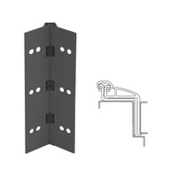 041XY-315AN-120-SECWDHM IVES Full Mortise Continuous Geared Hinges with Security Screws - Hex Pin Drive in Anodized Black