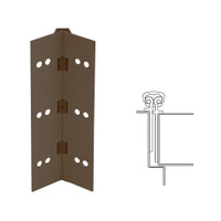 026XY-313AN-85-WD IVES Full Mortise Continuous Geared Hinges with Wood Screws in Dark Bronze Anodized