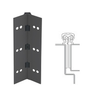 112XY-315AN-120-WD IVES Full Mortise Continuous Geared Hinges with Wood Screws in Anodized Black