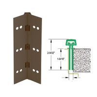 112HD-313AN-120-WD IVES Full Mortise Continuous Geared Hinges with Wood Screws in Dark Bronze Anodized