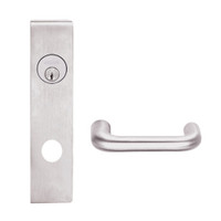 L9050L-03L-629 Schlage L Series Less Cylinder Entrance Commercial Mortise Lock with 03 Cast Lever Design in Bright Stainless Steel