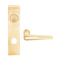 L9050L-05L-612 Schlage L Series Less Cylinder Entrance Commercial Mortise Lock with 05 Cast Lever Design in Satin Bronze