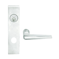 L9050L-05L-619 Schlage L Series Less Cylinder Entrance Commercial Mortise Lock with 05 Cast Lever Design in Satin Nickel