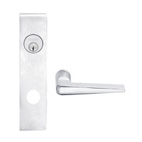 L9050L-05L-625 Schlage L Series Less Cylinder Entrance Commercial Mortise Lock with 05 Cast Lever Design in Bright Chrome