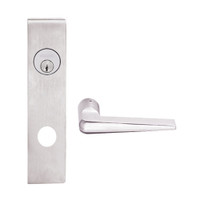 L9050L-05L-629 Schlage L Series Less Cylinder Entrance Commercial Mortise Lock with 05 Cast Lever Design in Bright Stainless Steel