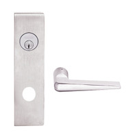 L9080L-05N-629 Schlage L Series Less Cylinder Storeroom Commercial Mortise Lock with 05 Cast Lever Design in Bright Stainless Steel