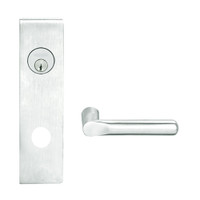 L9080L-18N-619 Schlage L Series Less Cylinder Storeroom Commercial Mortise Lock with 18 Cast Lever Design in Satin Nickel