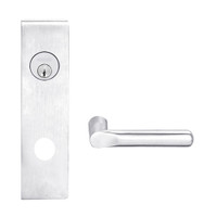 L9080L-18N-625 Schlage L Series Less Cylinder Storeroom Commercial Mortise Lock with 18 Cast Lever Design in Bright Chrome