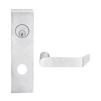 L9080L-06N-626 Schlage L Series Less Cylinder Storeroom Commercial Mortise Lock with 06 Cast Lever Design in Satin Chrome