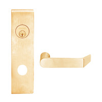L9080L-06N-612 Schlage L Series Less Cylinder Storeroom Commercial Mortise Lock with 06 Cast Lever Design in Satin Bronze