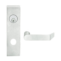 L9080L-06N-619 Schlage L Series Less Cylinder Storeroom Commercial Mortise Lock with 06 Cast Lever Design in Satin Nickel