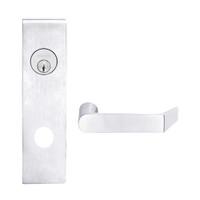 L9080L-06N-625 Schlage L Series Less Cylinder Storeroom Commercial Mortise Lock with 06 Cast Lever Design in Bright Chrome