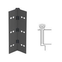 027XY-315AN-120-TEKWD IVES Full Mortise Continuous Geared Hinges with Wood Screws in Anodized Black