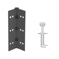 040XY-315AN-120-TEKWD IVES Full Mortise Continuous Geared Hinges with Wood Screws in Anodized Black