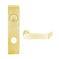 L9453L-06L-605 Schlage L Series Less Cylinder Entrance with Deadbolt Commercial Mortise Lock with 06 Cast Lever Design in Bright Brass