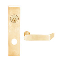 L9453L-06L-612 Schlage L Series Less Cylinder Entrance with Deadbolt Commercial Mortise Lock with 06 Cast Lever Design in Satin Bronze