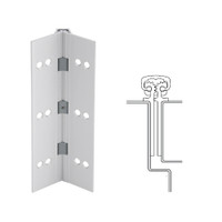 112XY-US28-95-TF IVES Full Mortise Continuous Geared Hinges with Thread Forming Screws in Satin Aluminum
