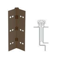 112XY-313AN-120-TF IVES Full Mortise Continuous Geared Hinges with Thread Forming Screws in Dark Bronze Anodized