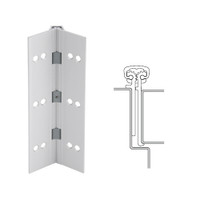 114XY-US28-95-TF IVES Full Mortise Continuous Geared Hinges with Thread Forming Screws in Satin Aluminum