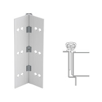 026XY-US28-83-SECWDWD IVES Full Mortise Continuous Geared Hinges with Security Screws - Hex Pin Drive in Satin Aluminum
