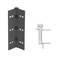 026XY-315AN-83-SECWDWD IVES Full Mortise Continuous Geared Hinges with Security Screws - Hex Pin Drive in Anodized Black