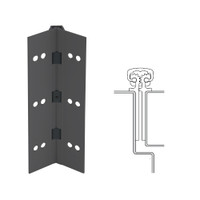 112XY-315AN-83-SECWDWD IVES Full Mortise Continuous Geared Hinges with Security Screws - Hex Pin Drive in Anodized Black