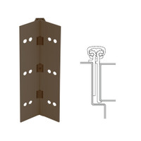 114XY-313AN-95-SECWDWD IVES Full Mortise Continuous Geared Hinges with Security Screws - Hex Pin Drive in Dark Bronze Anodized