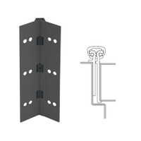 114XY-315AN-85-SECWDWD IVES Full Mortise Continuous Geared Hinges with Security Screws - Hex Pin Drive in Anodized Black