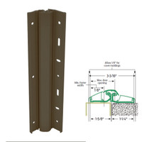 157XY-313AN-83-SECWDWD IVES Adjustable Full Surface Continuous Geared Hinges with Security Screws - Hex Pin Drive in Dark Bronze Anodized